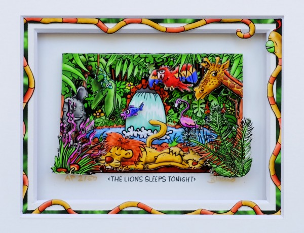 3D Pop Art - The Lions Sleeps Tonight