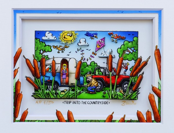 3D Pop Art - Trip Into The Countryside