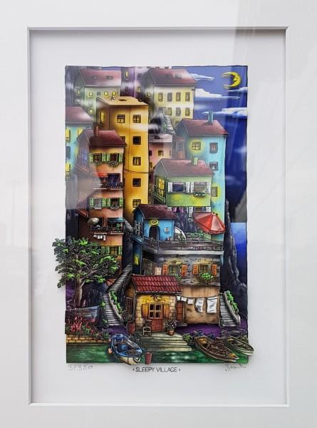 3D Pop Art - Sleepy Village