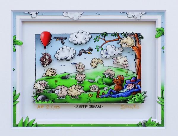 3D Pop Art - Sheep Dream