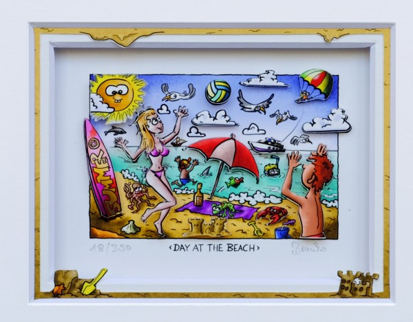 3D Pop Art - Day At The Beach