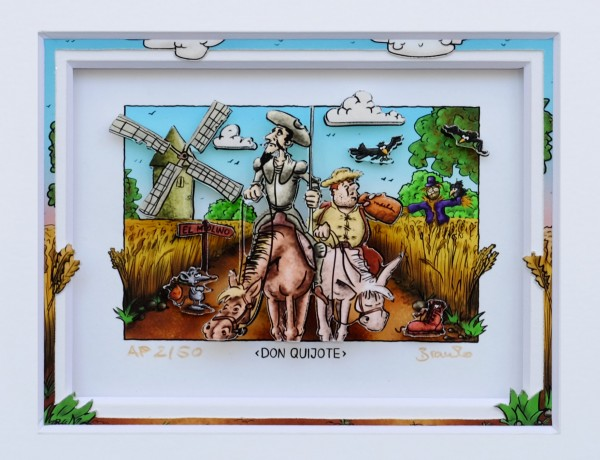 3D Pop Art - Don Quijote